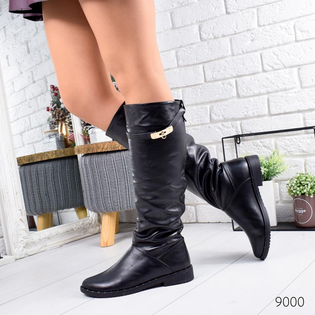 Классические женские сапоги натуральная кожа  низкий каблук 38