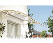 Навес для входных дверей Siker 700-N (700*1500) Grey, фото 3