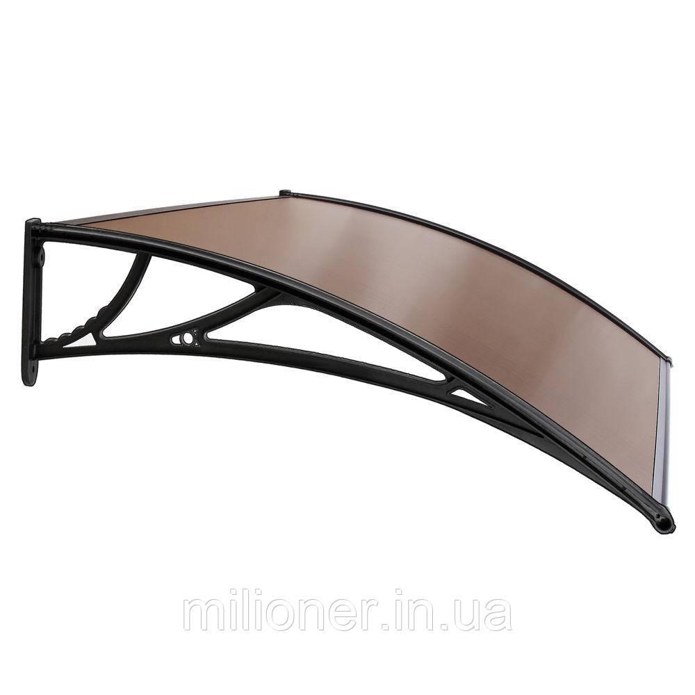 Навес для входных дверей Siker 800-С (800*1200) Black
