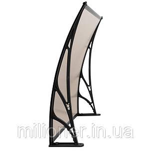 Навес для входных дверей Siker 800-С (800*1200) Black, фото 2