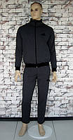 Костюм мужской спортивный темно-cерый с черными полосами  Point ONE