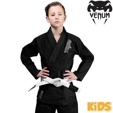 Детское кимоно для джиу-джитсу Venum Contender Kids BJJ Gi Black, фото 2