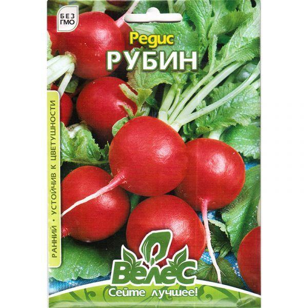 Семена редиса «Рубин» (15 г) от ТМ «Велес»