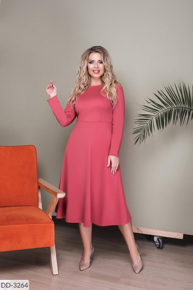 Стильное платье     (размеры 48-52) 0221-98