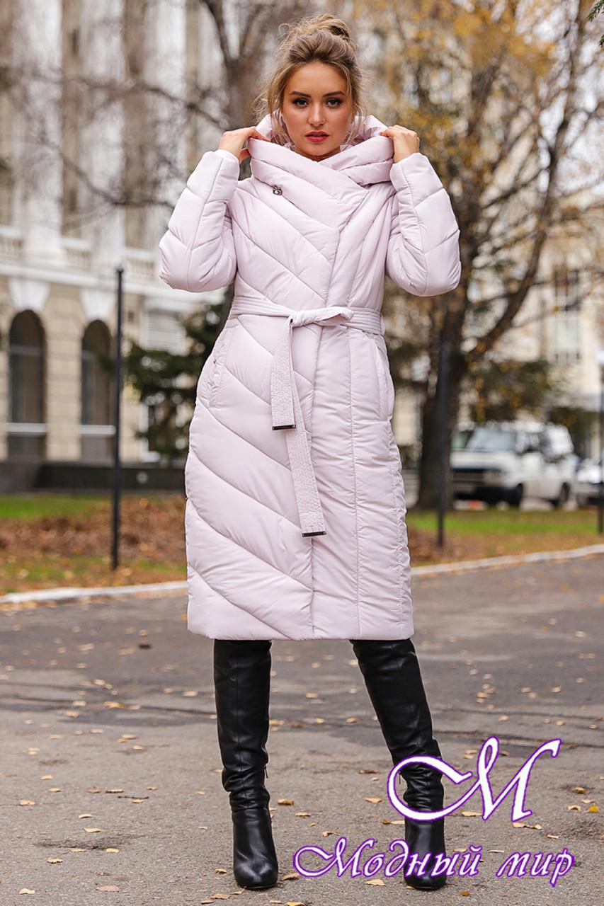 Женская зимняя куртка батальных размеров (р. 42-56) арт. Виоланта жемчужный