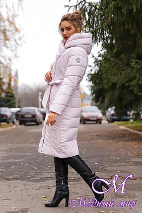 Женская зимняя куртка батальных размеров (р. 42-56) арт. Виоланта жемчужный, фото 2