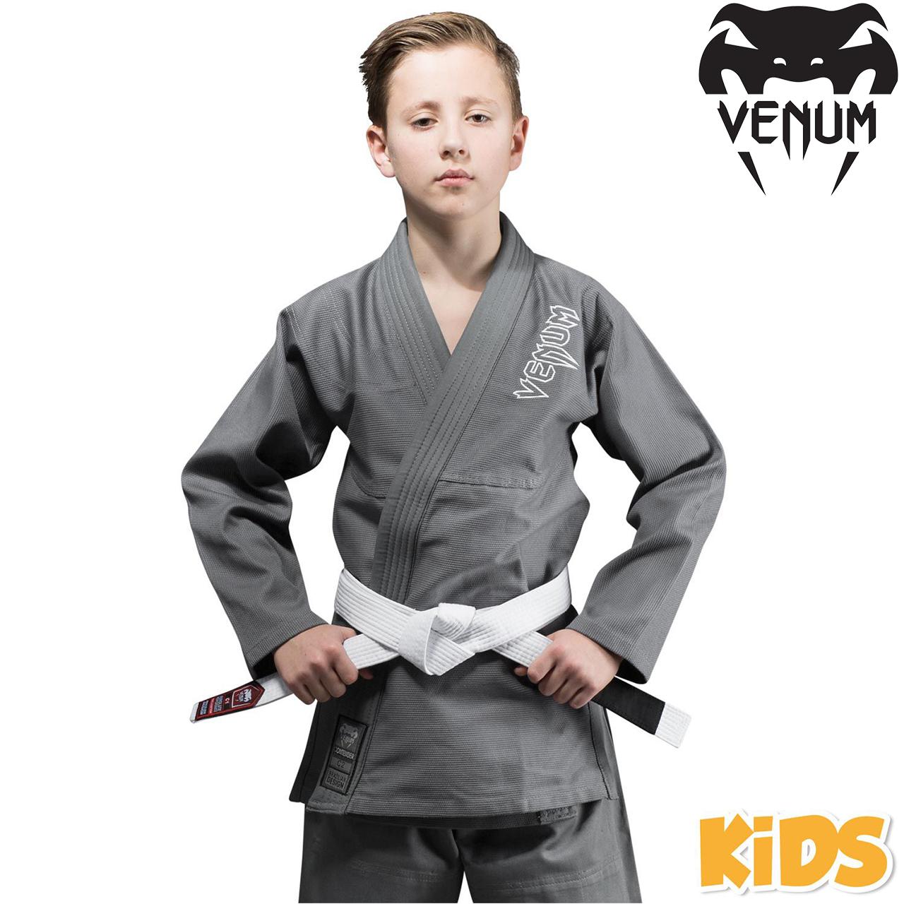 Детское кимоно для джиу-джитсу Venum Contender Kids BJJ Gi Grey