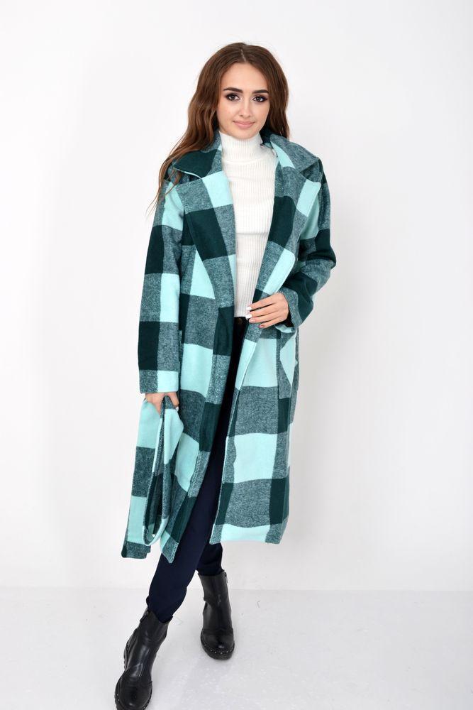 Пальто женское 104R008 цвет Зеленый размер S