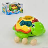 Черепаха музыкальная 0606 (48) подсветка, ездит, откладывает яйца, на батарейке, в коробке
