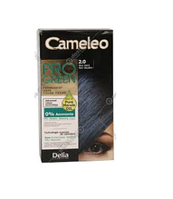 Крем-фарба Delia для волосся Pro Green з маслом Марули 2.0 Синьо-чорний