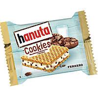 Hanuta cookies new! Вафли с молочной начинкой и кусочками шоколадного печенья, фото 2