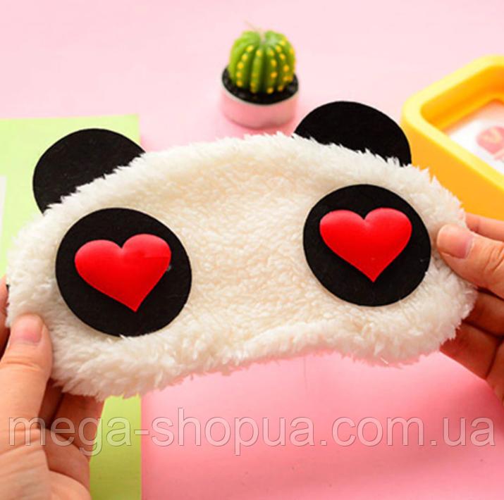 """Удобная мягкая маска для сна """"Panda - 1"""". Повязка для сна. Маска на глаза для сна. Маска для сну"""
