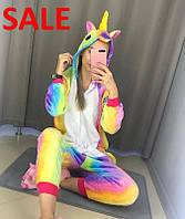 Пижама кигуруми радужный звездный Единорог дроп кенгуруми кенгуру много расцветок