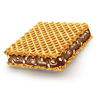 Hanuta original Вафли с шоколадно-ореховой начинкой с кусочками фундука, фото 3