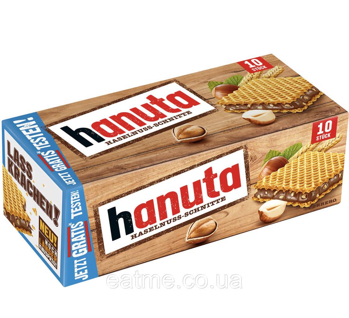 Hanuta original Вафли с шоколадно-ореховой начинкой с кусочками фундука