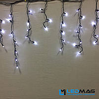 Светодиодная гирлянда Бахрома уличная 3х0.5 м 200 LED ПВХ, белая на черном проводе (шестигранник), фото 1