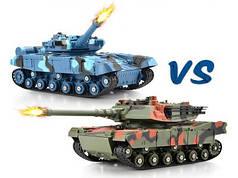 Набор боевые детские танки 2шт. большие на радиоуправлении пульте Tank