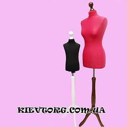 Манекен портновский женский пошивочный пенопластовый красный для шитья, выставочный, витринный