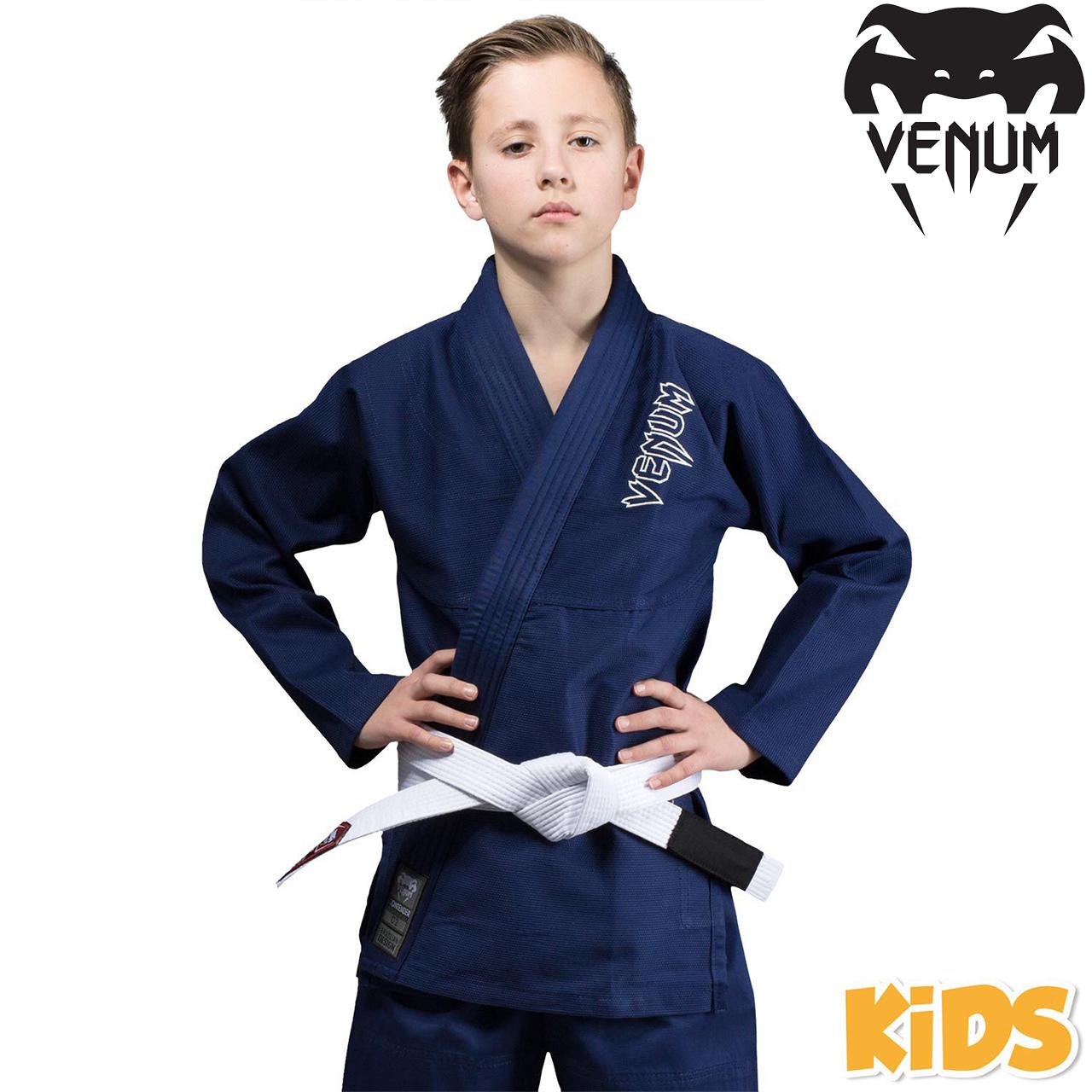 Детское кимоно для джиу-джитсу Venum Contender Kids BJJ Gi Navy Blue