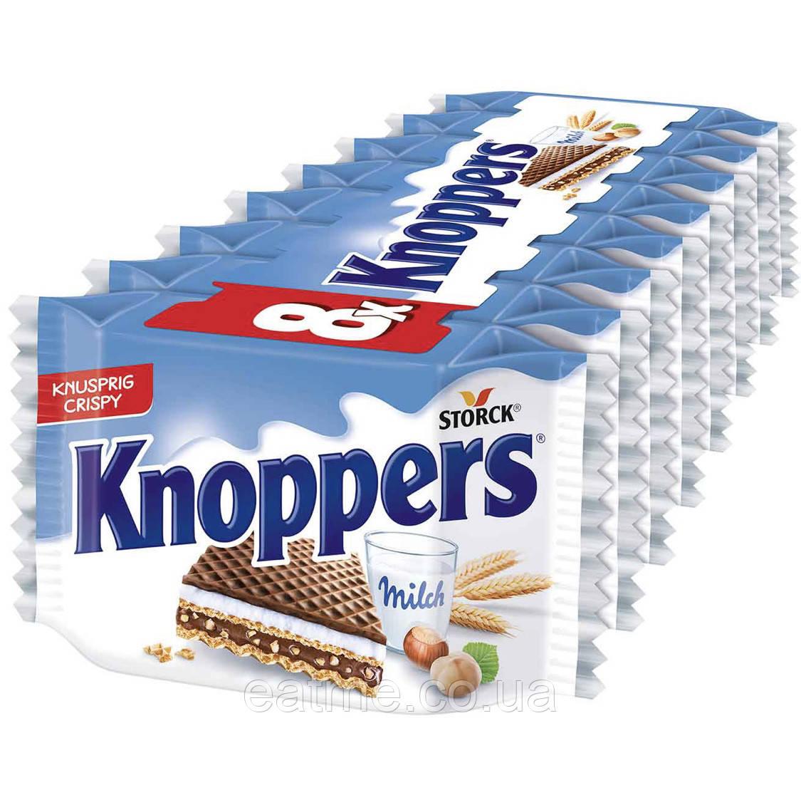 Knoppers Вафли с молочной и шоколадно-ореховой начинками