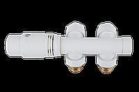 Комплект термостатический угловой белый DUO-PLEX INVENA