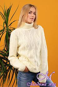 Женский теплый свитер крупной вязки (ун. 46-50) арт. К-13-080