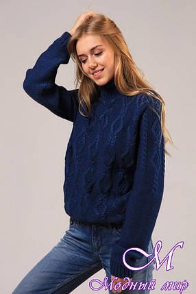 Женский теплый свитер крупной вязки (ун. 46-50) арт. К-13-080, фото 2
