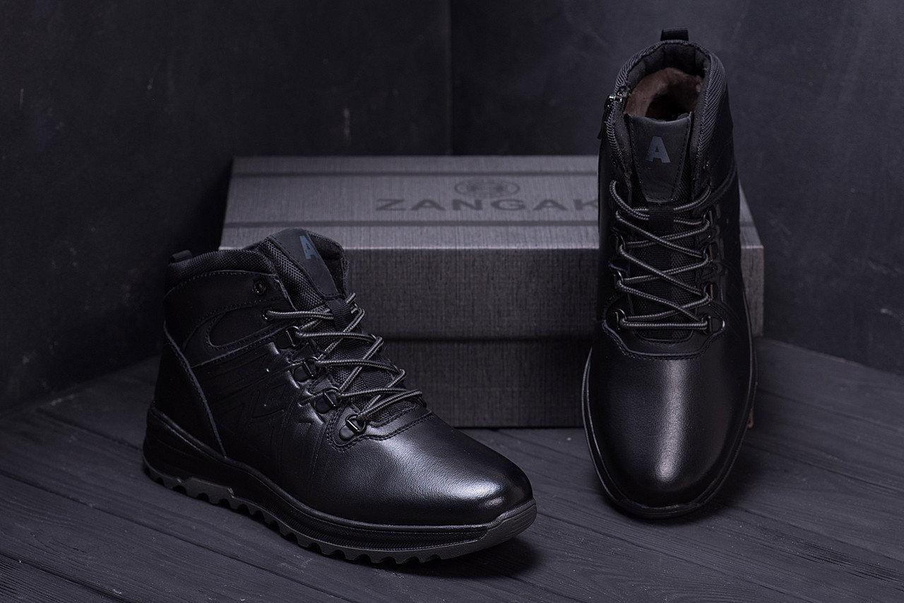 Мужские зимние кожаные ботинки в стиле Salomon A-series