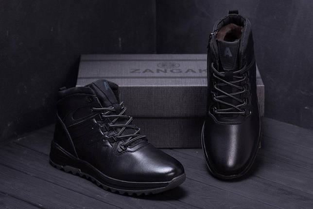 Мужские зимние кожаные ботинки в стиле Salomon A-series, фото 2
