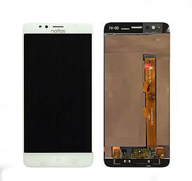 Дисплей для TP-LINK Neffos N1 с сенсорным стеклом (Белый) Оригинал Китай