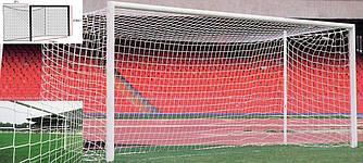 Профессиональная сетка для футбольных ворот 7,5х2,5х2х2 м. (шнур 3,5 мм., Испания)