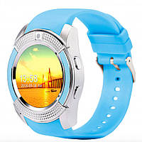 Смарт-годинник Smart Watch V8 Blue Original (11849)