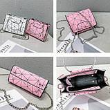 """Женская классическая сумочка на цепочке """"Кошка"""" розовая, фото 2"""
