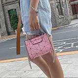 """Женская классическая сумочка на цепочке """"Кошка"""" розовая, фото 3"""