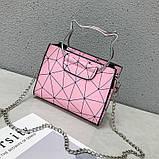 """Женская классическая сумочка на цепочке """"Кошка"""" розовая, фото 4"""