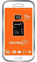 Мікро SD карта MSD 16GB Advance/C10+SD