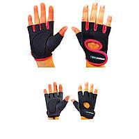Перчатки для фитнеса женские, р. S, L  из неопрена (не скользящие)