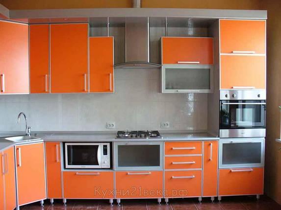 Кухня пластик в профиле №6, фото 2