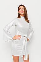 Нарядное платье мини облегающее размеры от 42 до 46, трикотажное белое
