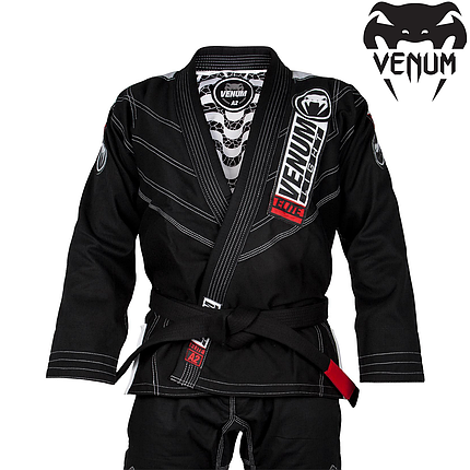Кимоно для джиу-джитсу Venum Elite Light 2.0 BJJ GI Black, фото 2