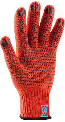 Перчатки рабочие х/б оранжевая с пвх покрытием (Китай), фото 2