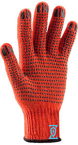 Рукавички робочі х/б помаранчева з пвх покриттям (Китай)
