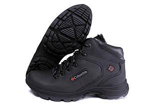 Мужские зимние кожаные ботинки черные (40-45) ПК- 601 trac, фото 2