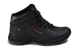 Мужские зимние кожаные ботинки черные (40-45) ПК- 601 trac, фото 3