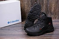 Мужские зимние кожаные ботинки черные (40-45) ПК- 601 trac