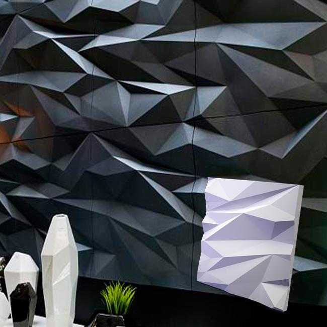 """Гипсовая 3d панель для стен """"СКАЛА"""" (декоративная стеновая 3д панель)"""