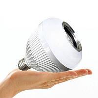 Колонка беспроводная Bluetooth LED лампа 2 в 1, Esperanza E27-3W, с питанием от сети 220 В