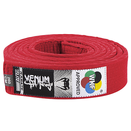 Пояс для каратэ Venum Karate Belt Red, фото 2