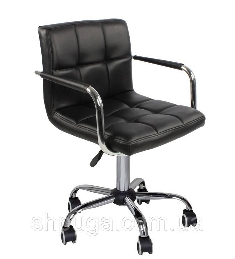 Кресло Артур КО, экокожа, цвет черный колеса
