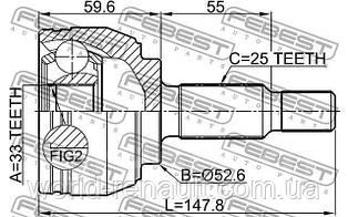 Шрус наружный на Рено Дастер 4x2 1.5dci, 1.6i 16V / FEBEST 2410DUST
